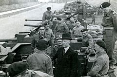 Polish president Raczkiewicz in the 1st Armored Division, year 1943